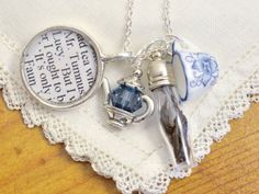 I find this really cool... CS Lewis Narnia - Tea with Mr. Tumnus Charm Necklace  - The Lion The Witch and the Wardrobe Quote Jewelry.