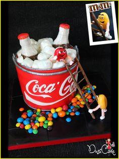 Coca Cola & M&M's  Cake by DusiCakes