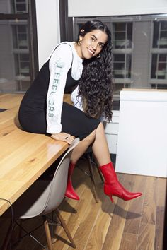 ac4e413e9b7f Mona Chalabi isn t afraid to wear stuff from her teen years. Interview,