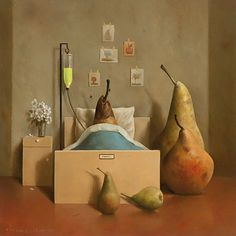 "Marius van Dokkum, Dutch Artist and Illustrator ""ik voel me rot"". Satirical Illustrations, Illustrations Posters, Figure Painting, Painting & Drawing, Michael Sowa, Dutch Painters, Dutch Artists, Whimsical Art, Surreal Art"