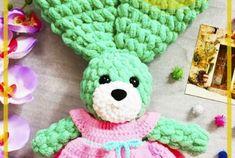 Patrón de Ganchillo Gratis Conejito Amigurumi Free Crochet, Crochet Gratis, Crochet Patterns Amigurumi, Double Crochet, Crochet Necklace, Dolls, Crochet Disney, Crochet Rabbit, Teddy Bear