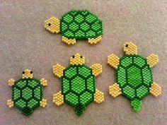 turtles Seed Bead Patterns, Beaded Jewelry Patterns, Peyote Patterns, Beading Patterns, Bracelet Patterns, Turtle Crafts, Motifs Perler, Beaded Banners, Hama Beads Design