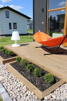 Planting boxes aroud terrace, Housing fair Finland 2013