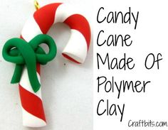 Polymer Clay Candy Canes Awesome for being mystery reader for connors class in december