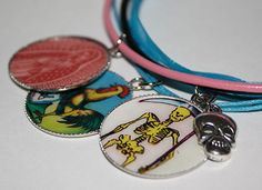 Mexican Loteria Saint Charm Necklace