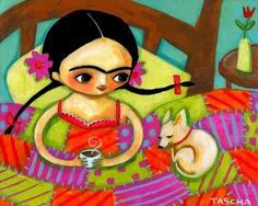 Image result for frida kahlo dibujos tascha