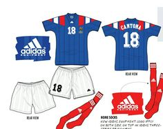 France home kit for the 1992 European Championships.