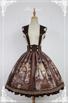 Neverland Lolita -Steampunk Cat- Lolita Salopette/Skirt