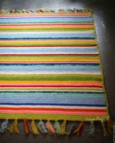 Купить Мексиканский ковер вязаный ручная работа купить - разноцветный, мексиканский, купить яркий коврик