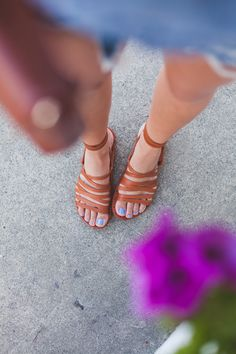 c9ed120e862 brittany xavier of  thriftsandthreads wearing beek all leather sandals at  Lost   Found shop in Hollywood