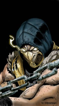 Scorpion MKX by Dubcarnage on DeviantArt Mortal Kombat X Scorpion, Mortal Kombat Games, Escorpion Tattoo, Red Hood Wallpaper, Mortal Kombat X Wallpapers, Dark Souls Art, Ninja Art, Video Game Anime, Marvel Comic Universe