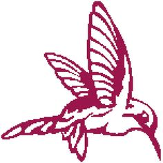 Hummingbird  a Counted Cross Stitch Pattern by WooHooCrossStitch, $9.00