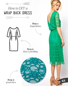 Lula Louise: How to DIY a Wrap Back Dress- lace, pattern review