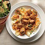 Pork Tenderloin Paprikash with Egg Noodles Recipe | MyRecipes.com.  Serve with Apple Salad with Mustard Dressing