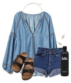 """""""~f r i d a y~"""" by flroasburn ❤ liked on Polyvore featuring Gap, Birkenstock, J.Crew and Kendra Scott"""
