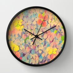 Summer Time Floral  Wall Clock by Judy Palkimas - $30.00