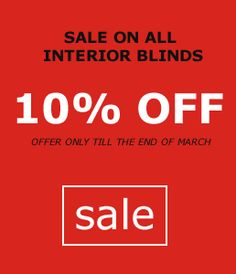 10% Off Interior Blinds