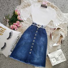 Cute Casual Outfits, Modest Outfits, Skirt Outfits, Pretty Outfits, Stylish Outfits, Beautiful Outfits, Girls Fashion Clothes, Teen Fashion Outfits, Fashion Dresses