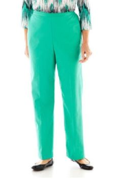 Alfred Dunner Womens Pants Pull On Beekman Place Stretch Jade Solid size 18 NEW 16.99 http://www.ebay.com/itm/Alfred-Dunner-Womens-Pants-Pull-Beekman-Place-Stretch-Jade-Solid-size-18-NEW-/262945539815?var=&hash=item82d6e59d39
