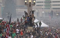 Shootings broke out during massive marijuana celebration--Members of a crowd numbering tens of thousands smoke marijuana and listen to live music, at the Denver 420 pro-marijuana rally at Civic Center Park in Denver on Saturday, April 20, 2013. Even before the passage in November 2012 of Colorado Amendment 64 promised the legalization of marijuana for recreational use, April 20th has for years been a celebration of marijuana counterculture...