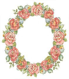 Oval Frames With Rosesimages