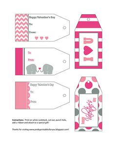 943 best etiquetas images on pinterest free printables printable free valentine gift tag printable negle Image collections