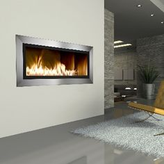 I love these modern look fires