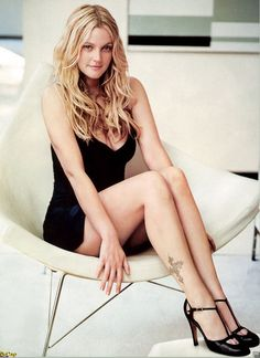 Drew Barrymore. I have loved Drew forever! Not in a weird way but she's a great actress and seems so cool and down to earth.