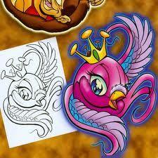 new school bird tattoo - Google Search