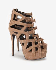 Giuseppe Zanotti Buckled Strap Stiletto Platform Sandal