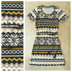 Fair Isle Knit Dress <3