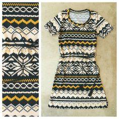 Fair Isle Knit Dress <3