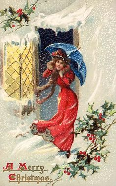 old time christmas cards are cute.