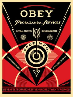 Propaganda Services Eye OBEY Giant Screen Print by Shepard Fairey 2014 Print measures signed and numbered by the artist Limited Edition Screenprint Poster of 450 worldwide Check out our other listings for more hard-to-find and out-of-print posters Shepard Fairey Prints, Shepard Fairey Obey, Shepard Fairy, Obey Art, Russian Constructivism, Propaganda Art, Surf, Graphic Design Posters, Cool Posters