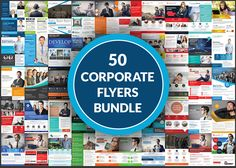 50 Business Flyers Bundle by AfzaalGraphics on Creative Market