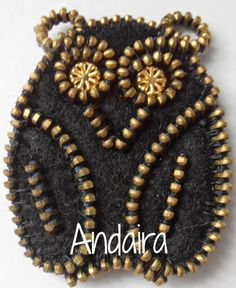 ANDAIRADAS:Búho con cremallera y fieltro-TUTORIAL