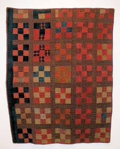 Handwoven Quilt 1890 -  Made from handwoven fabrics Blocks are all handstitched