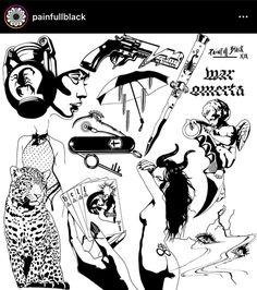 Flash Thin Line Tattoos, Cool Tattoos, Goth Tattoo, Tatting, Ink, Movie Posters, Black, Tatuajes, Dibujo