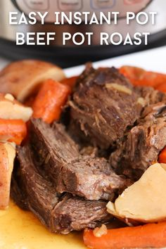 Just a few ingredients thrown in the instant pot makes for the perfect Sunday dinner pot roast. Beef Pot Roast, Roast Beef Recipes, Perfect Roast Beef, Stuffed Pepper Casserole, Sunday Dinner Recipes, Best Instant Pot Recipe, Dinner Entrees, Clean Eating Snacks, Sisters