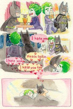 #wattpad #fanfic J:Batsy, ¿qué tal si hacemos un álbum de nosotros dos? *Joker estaba feliz de realizar su idea, así que abrazó a Batman mientras le besaba en la mejilla* B:Mmm...está bien, Joker *Batman se resignó y revolvió los verdes cabellos del payaso mientras éste reía divertido ante la muestra de afecto* J:H...