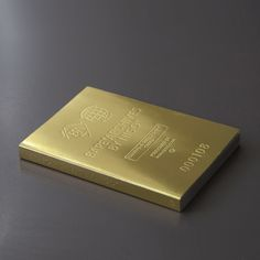 gold debossed cover