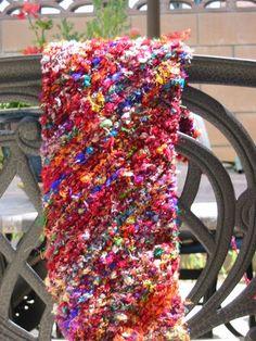Bias Knit Sari Silk Scarf by ShelbyD, via Flickr