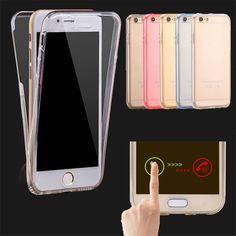 360 전신 보호 소프트 tpu 투명 전화 케이스 iphone 7 7 플러스 6 6 초 플러스 SE 5 초 5 전면 터치 스크린 및 다시 커버