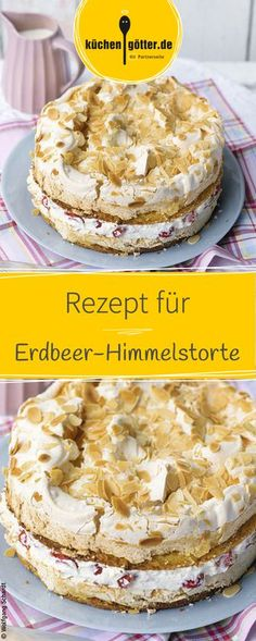 Aromatische erdbeeren in sahniger Mascarponecreme zwischen zwei Rührteigböden, die mit einer Knusperschicht aus Baiser veredelt wurden. Food Cakes, Cupcake Cakes, Baking Recipes, Cookie Recipes, Dessert Recipes, Torte Au Chocolat, Oreo Desserts, Cake Cookies, No Bake Cake