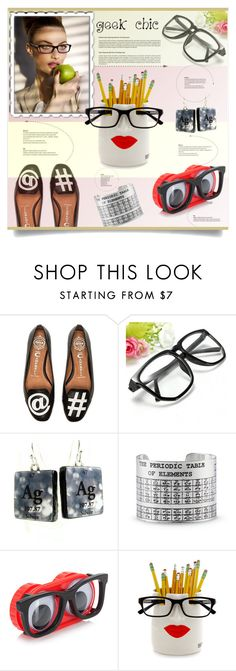 """Geek Chic"" by kiki-bi ❤ liked on Polyvore featuring Jeffrey Campbell and embraceyourgeeknessday"
