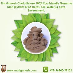 Save #Environment on this #Ganeshchaturthi by using #ecofriendly #Ganesha #Idols. Book your idol today at http://matiganesh.com/collections/all
