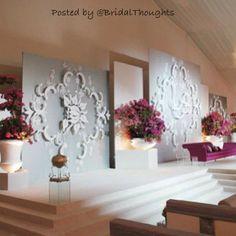 Reception decor for wedding. Wedding Reception Design, Wedding Reception Decorations, Wedding Venues, Wedding Backdrops, Wedding Arches, Lounge Party, Aisle Flowers, Winter Wonderland Wedding, Desi Wedding