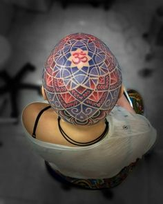 mandala head tattoo design ideas