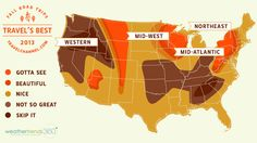 Fall foliage Map #TravelsBest  I find this insulting! I live in the eastern idaho area and it is absolutely beautiful in the fall!