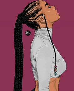 These braided hairstyles for black women are amazing Black Art Painting, Black Artwork, Black Love Art, Black Girl Art, Natural Hair Art, Natural Hair Styles, Drawings Of Black Girls, Black Girl Cartoon, Black Art Pictures